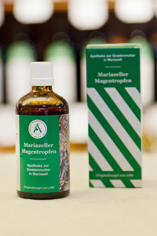 Mariazeller Magentropfen Flasche und Verpackung